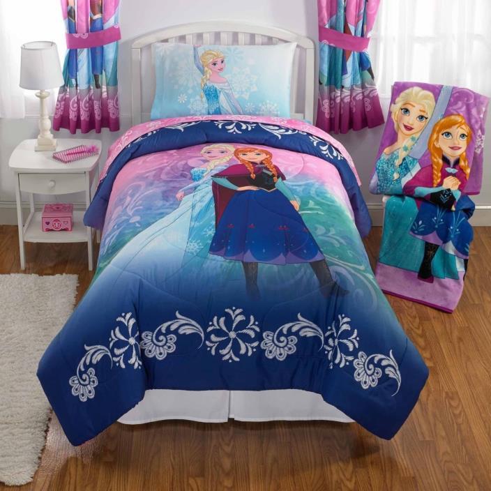 Disney's Frozen Nordic Frost Bed in Bag Bedding Set Twin new