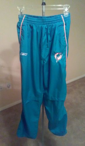 NFL REEBOK Miami Dolphins BOY'S Sweat Pants Size XL 18/20 Good Condition ON SALE