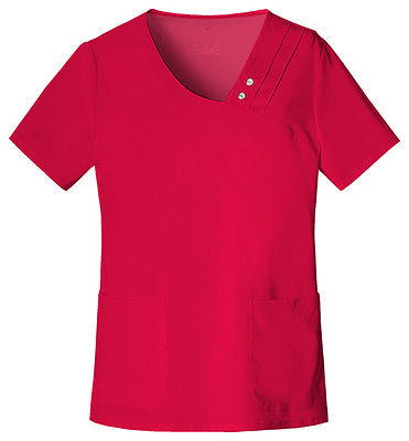 Cherokee Crossover V-Neck Pin-Tuck Top 1999 Red REDV
