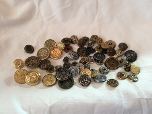 Vintage Metal Buttons Mixed Lot