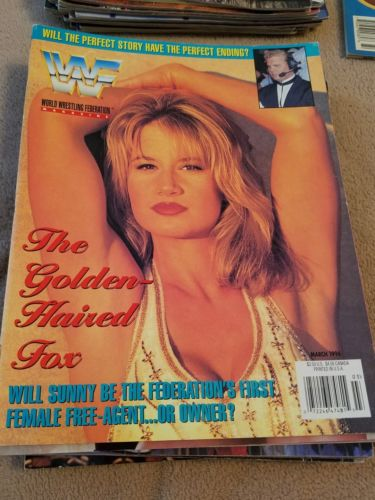 WWF World Wrestling Federation Magazine March 1996 Sunny wwe ecw Mr Perfect wcw