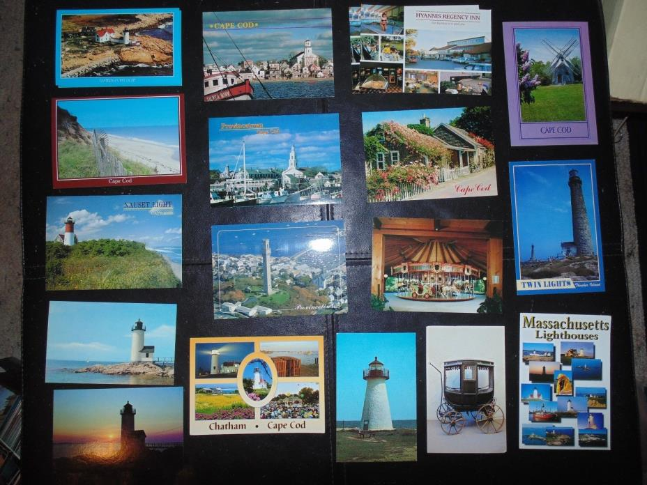 Cape Cod and Lighthouses postcards