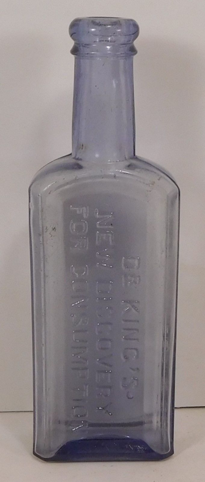 c1900 ICE BLUE MEDICINE - DR.KING'S NEW DISCOVERY FOR CONSUMPTION  H.E.BUCKLEN