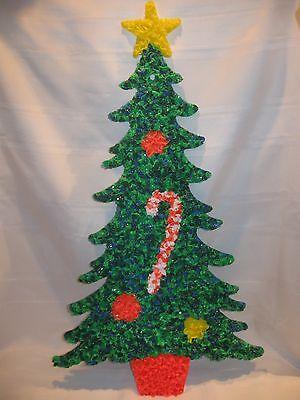 VINTAGE MELTED PLASTIC POPCORN CHRISTMAS TREE DECORATION