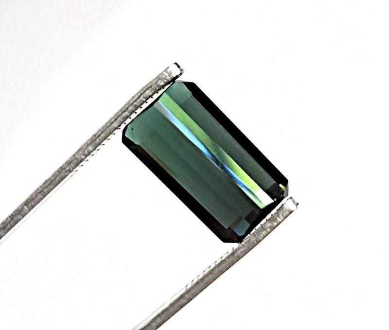 Green Tourmaline Fine Emerald / Rectanular Cut  Loose Gemstone 3.87 carats