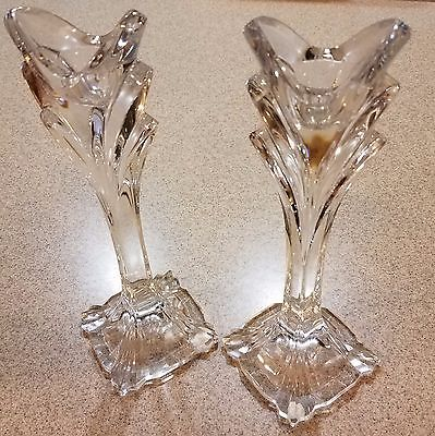 Leaded Glass Candle Holder - 24% Made in Slovakia Set of 2