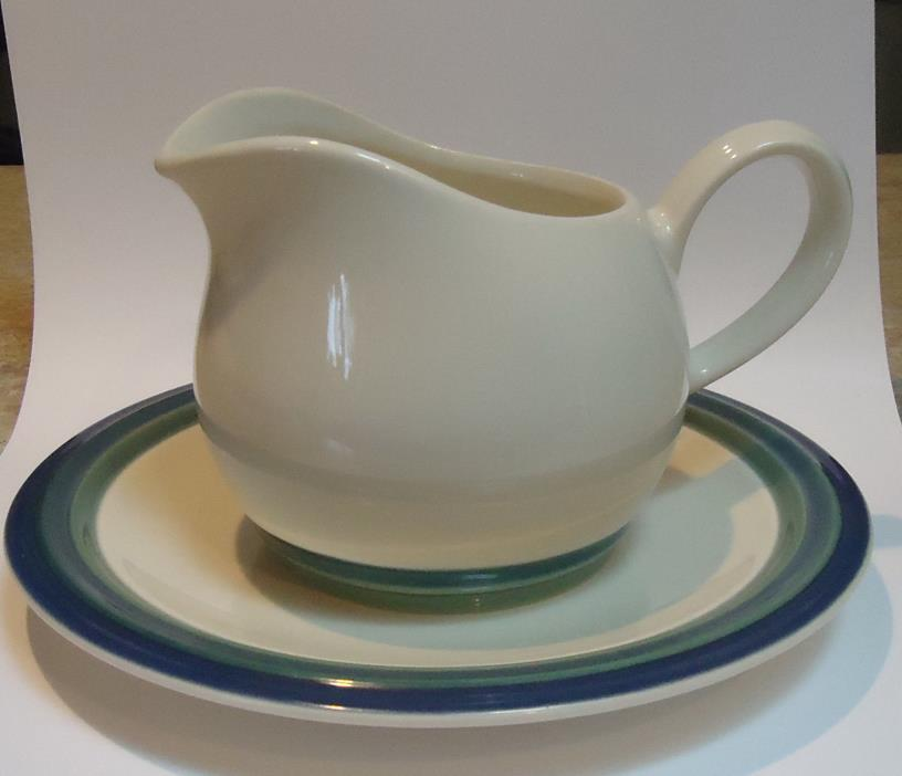 Pfaltzgraff OCEAN BREEZE Gravy Boat & Under Plate