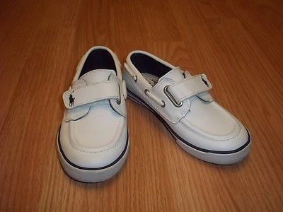 Ralph Lauren White Leather Shoes Size 10 Boys