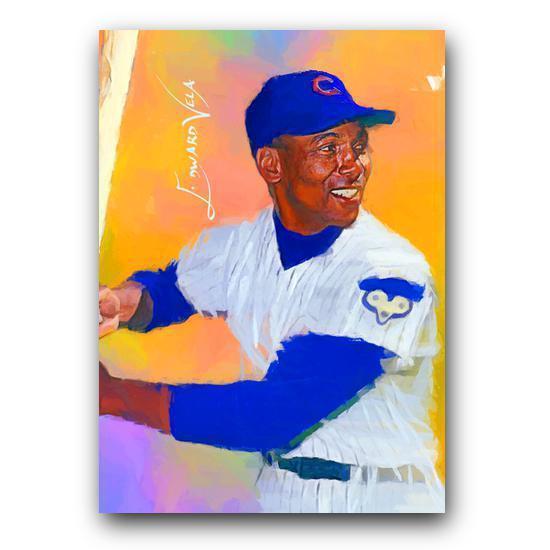 Ernie Banks #4 Sketch Card Limited 64/100 Edward Vela Signed