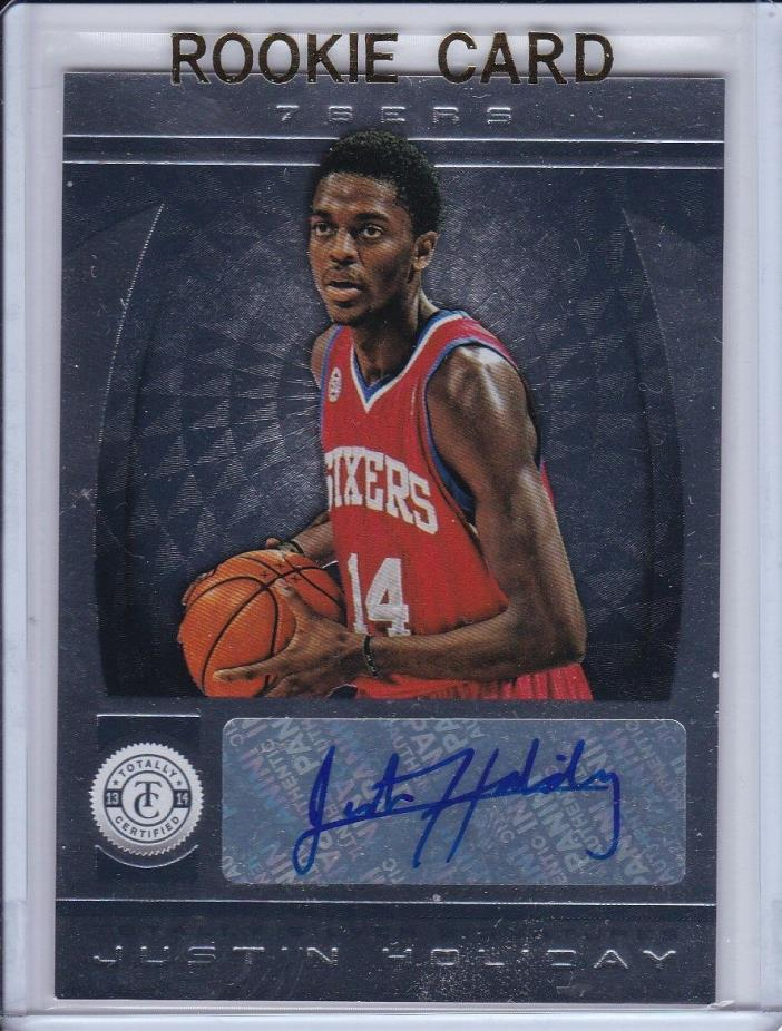 2013-14 TOTALLY CERTIFIED JUSTIN HOLIDAY AUTO # 243 ROOKIE RC KNICKS AUTOGRAPH