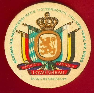 Lowenbrau-Royal-Coats-Of-Arms-German-Kingdoms-Beer-Coaster-made-in-germany