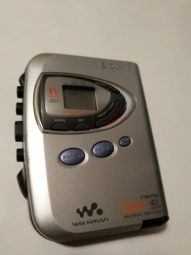 SONY WALKMAN WM-FX290 DIGITAL FM AM WEATHER BAND CASSETTE PLAYER W/40 PRESETS