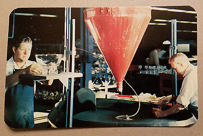 Corning Glass Works - Making of Stuben Glass Postcard