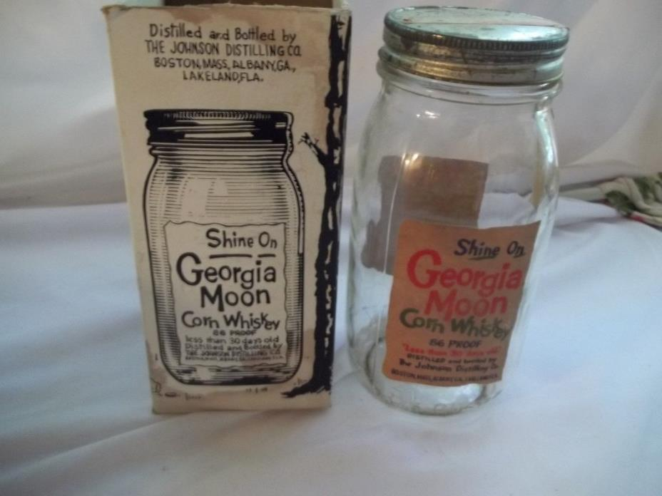 GEORGIA MOON CORN WHISKEY JAR WITH BOX