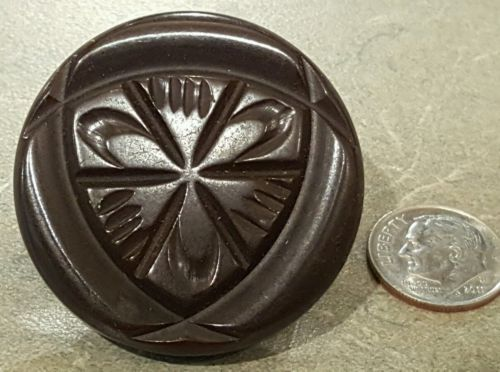 WOW! Vintage Huge Carved Bakelite Button 1 5/8