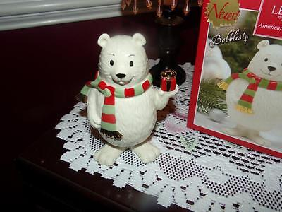 Lenox Holiday Bobbles Polar Bear NIB  NEAT GOLD GILT