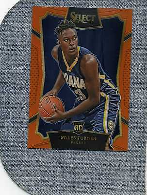 2015/16 PANINI  MYLES TURNER  PRISM ROOKIE CARD--ORANGE  09/60