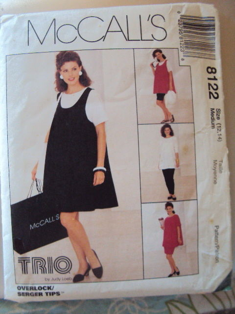 McCalls Maternity Dress Top Shorts Pattern 9298 UNCUT 12 -14 M Vintage Free Ship