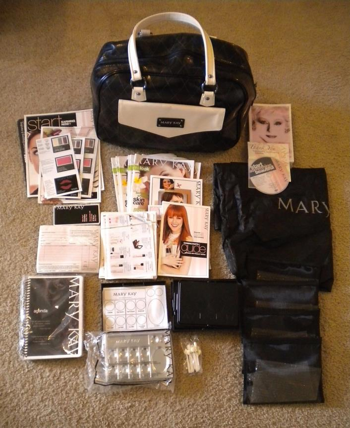 Mary Kay Consultant Travel Bag, Tote Organizer + Samples + Supplies + Book