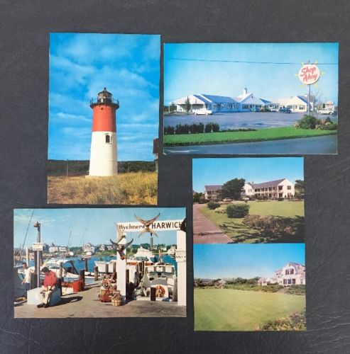 Cape Cod Chatham Hyannisport MA Vintage Postcards Lot Of 4