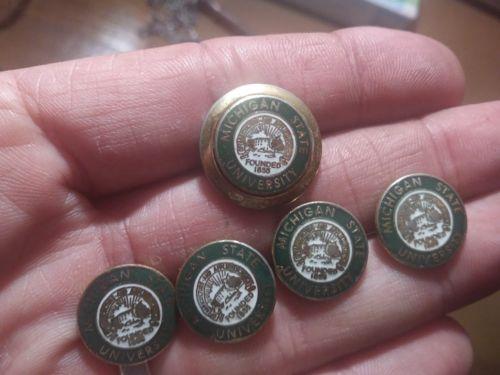 RARE LOT of Ben Silver MICHIGAN STATE UNIVERSITY Blazer Buttons SPARTANS