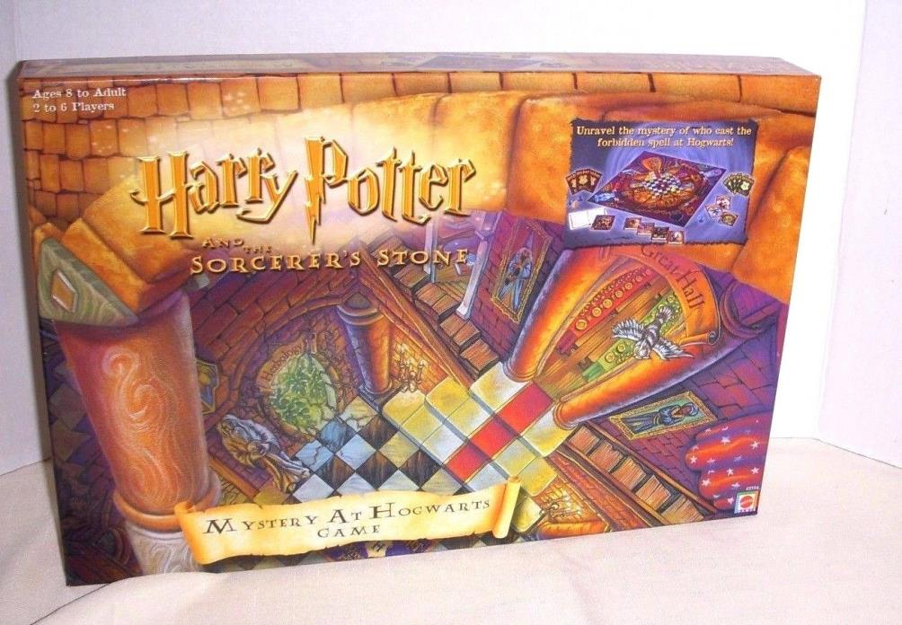 VINTAGE HARRY POTTER & THE SORCERER'S STONE - MYSTERY AT HOGWARTS GAME - 2000