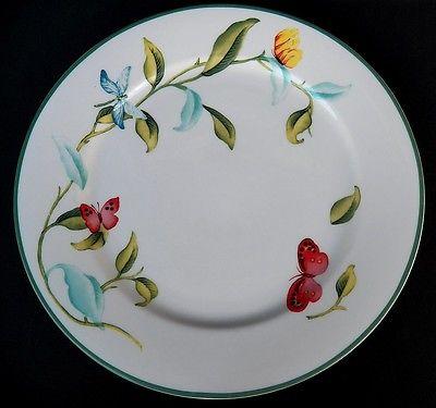 MARTHA STEWART MSE BUTTERFLY GARDEN DINNER PLATE(S)