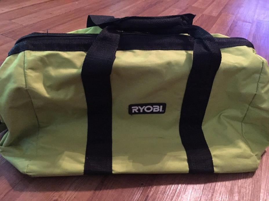 NEW Ryobi One 18v Large Set Contractors Canvas Wide-Mouth Tool Bag For P516 P507
