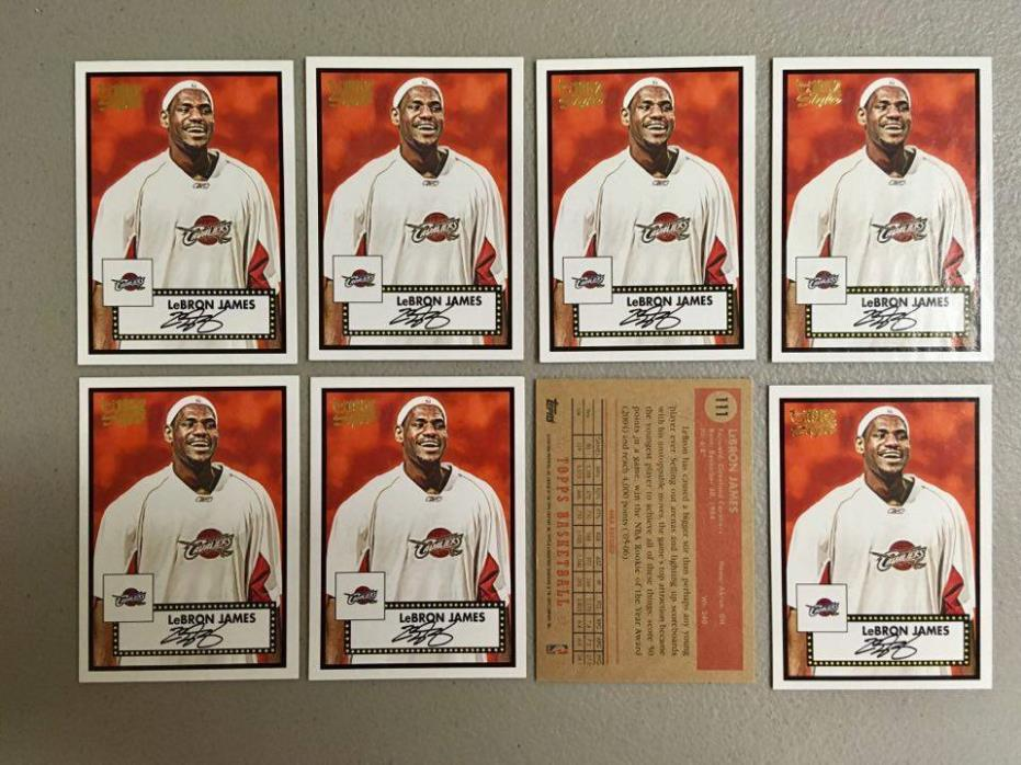 (x8) 2005-06 TOPPS 1952 LEBRON JAMES lot/set #111 3rd Year Beautiful Mint Cavs!!