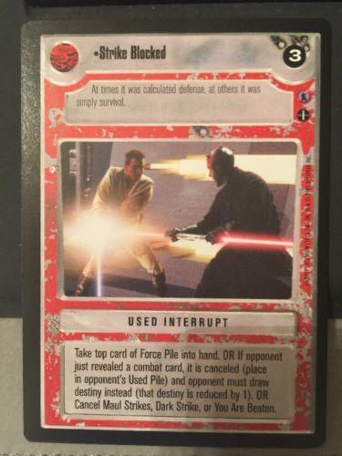 Star Wars CCG Reflections III Premium Strike Blocked