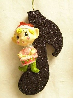 Katherine's Collection  elf pixie elves music ornament 5.25