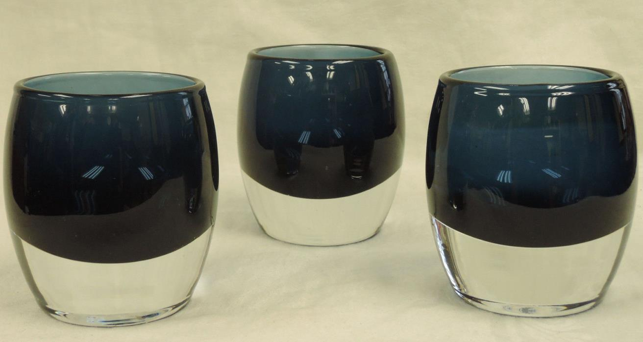 Crate & Barrel Glass Candle Holders