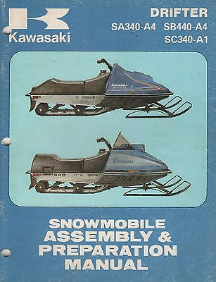 1980 KAWASAKI SNOWMOBILE  DRIFTER  ASSEMBLY & PREPARATION MANUAL (883)
