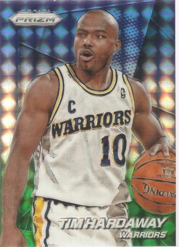 Tim Hardaway Prizm 14-15 #161 Blue and Green Refractor Golden State Warriors