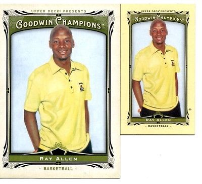 2013 Upper Deck Goodwin Champions 2 Cards #77 Ray Allen(Base & Mini)(NM)