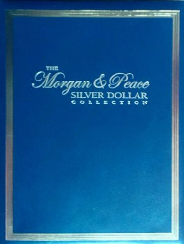 THE MORGAN AND PEACE SILVER DOLLAR COIN HOLDER BOOK HOLDS 24 SILVER DOLLARS NEW