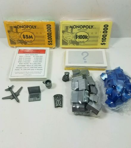 Monopoly Here and Now Edition 2006 / Replacement Parts Pieces Cash Buildings G-7