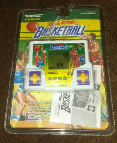 Vintage Tiger 1997 Electronic LCD Handheld Classic Game - All Pro Basketball