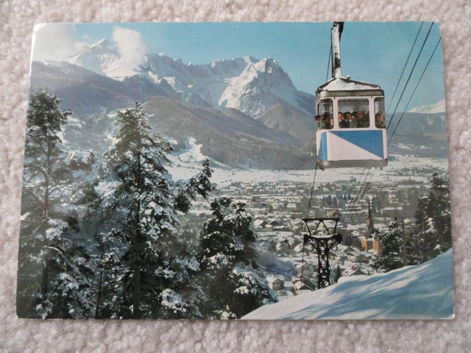 Snowy Mountains in Garmisch-Partenkirchen Germany    Postcard