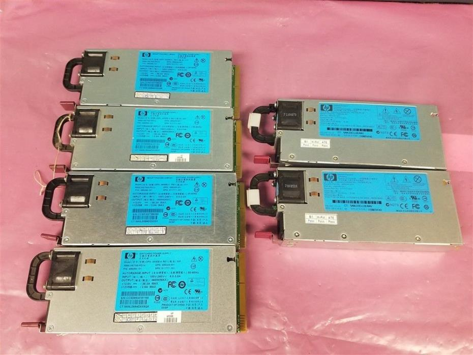 Lot of 6 HP Server Power Supply HSTNS-PL14 HSTNS-PD14 499249-001 499250-101!