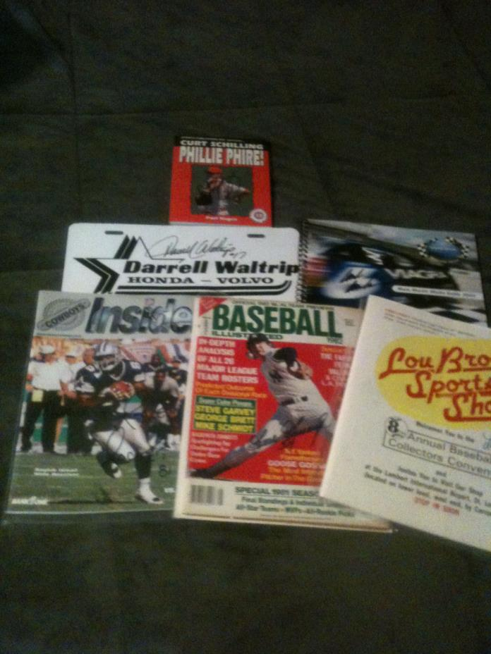 Lot of Signed Curt Schilling, Goose Gossage, Mark Martin, Darrell Waltrip Magazi