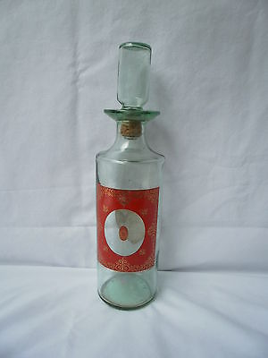 Vintage Glass Venetian Liquor Decanter Kentucky Bourbon Whiskey cork stopper 4/5