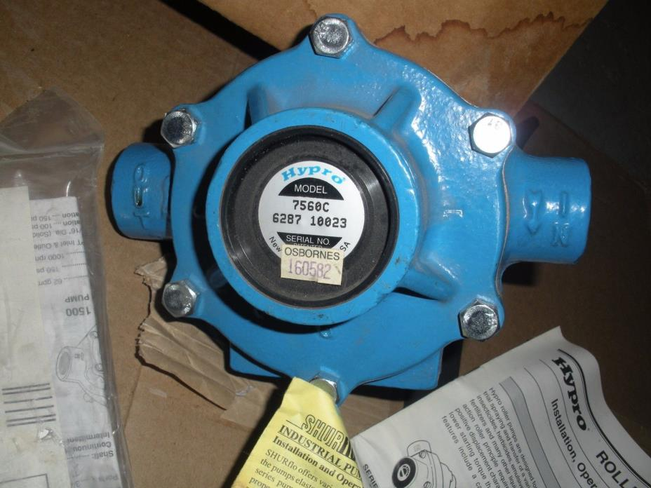 NEW HYPRO 7560C 8 ROLLER PUMP with tractor pto connector