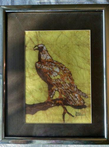 Diane Christiansen Batik Eagle, Vintage, Signed