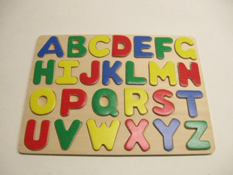 Kid's Wooden Learning Alphabet Puzzle Board