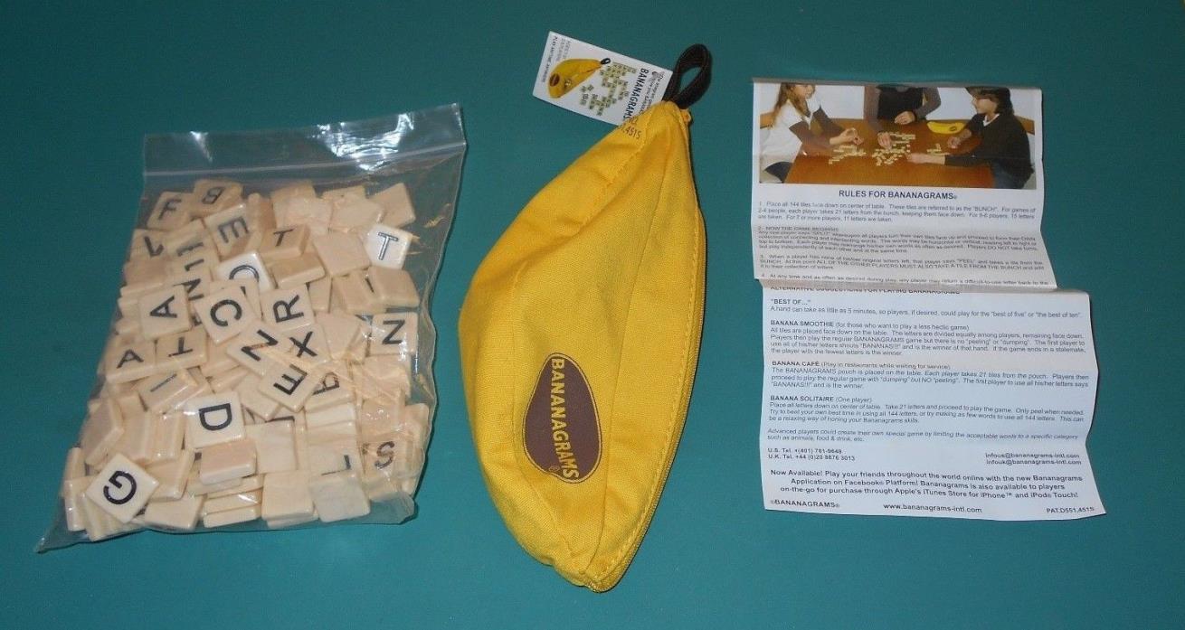Bananagrams Anagram Educational Crossword Game Crafts Scrapbooking 144 Tiles