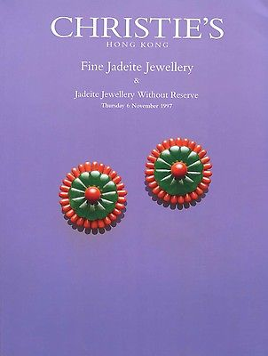 Christie's Hong Kong Fine Jadeite Jewellery 1997 Catalog and Auction Results