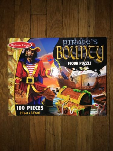 ! Melissa & Doug Pirates Bounty Floor Puzzle 100 Pieces 2x3 Feet Ship Treasure