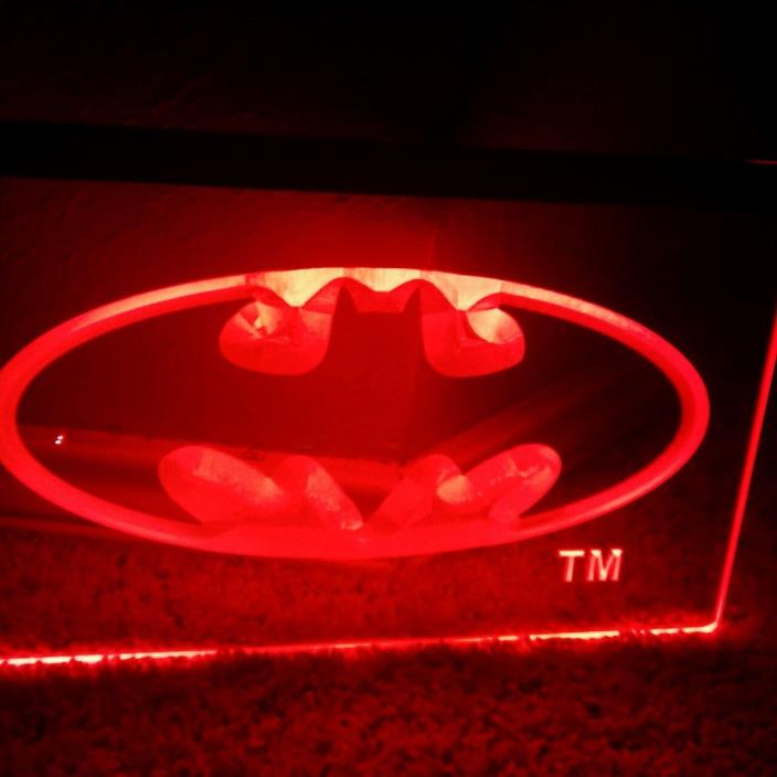 LED Batman Red Sign Neon Light Sign Display 8X11 Regular Season Any