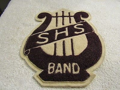 Vintage SHS High School Letter Jacket Sweater Band Patch 8
